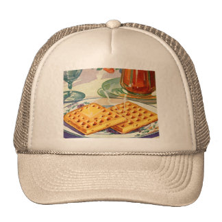 Retro Vintage Kitsch Food 40s Nutty Waffles Art Trucker Hat