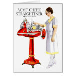 Retro Vintage Kitsch Food Acme Cheese Straightener Card