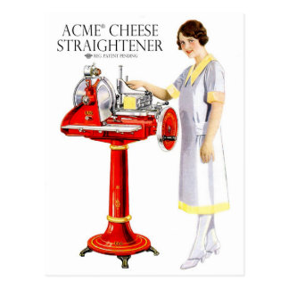 Retro Vintage Kitsch Food Acme Cheese Straightener Postcard