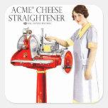 Retro Vintage Kitsch Food Acme Cheese Straightener Stickers