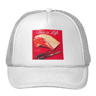 Retro Vintage Kitsch Food Beef Roast This is Life Trucker Hat