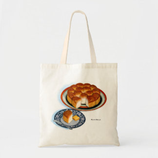 Retro Vintage Kitsch Food Bread Plain Rolls Art Tote Bag