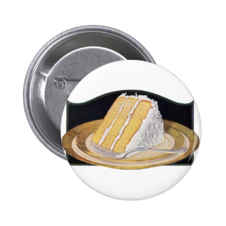 Retro Vintage Kitsch Food Coconut Cream Pie Pinback Buttons