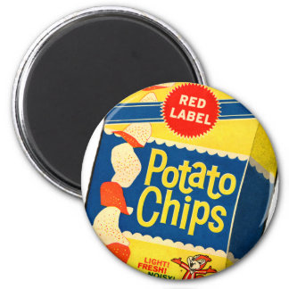 Retro Vintage Kitsch Food Crisps Potato Chips Bag Magnet