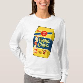 Retro Vintage Kitsch Food Crisps Potato Chips Bag T-Shirt