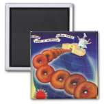 Retro Vintage Kitsch Food Doughnuts Donuts Ad Magnet