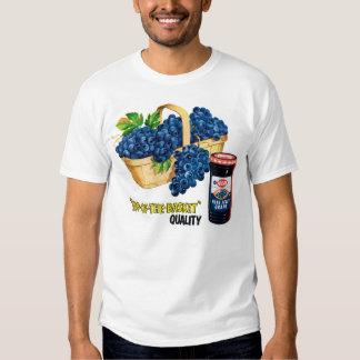 Retro Vintage Kitsch Food Grape Jelly & Grapes Ad T Shirt