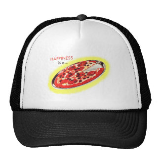 Retro Vintage Kitsch Food Happiness is a Pizza Trucker Hat