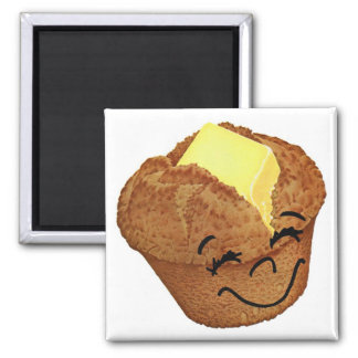 Retro Vintage Kitsch Food Happy Muffin Man Magnet