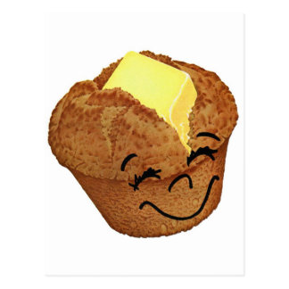 Retro Vintage Kitsch Food Happy Muffin Man Postcard