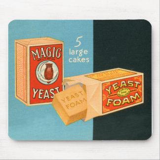 Retro Vintage Kitsch Food Magic Foam Yeast Mouse Pad