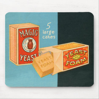 Retro Vintage Kitsch Food Magic Foam Yeast Mouse Pads