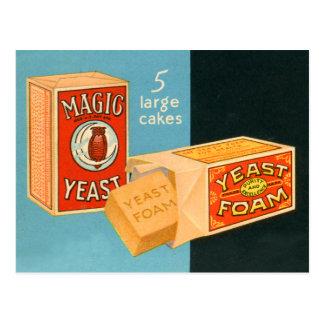 Retro Vintage Kitsch Food Magic Foam Yeast Postcard