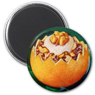 Retro Vintage Kitsch Food Orange Delite Dessert Magnet