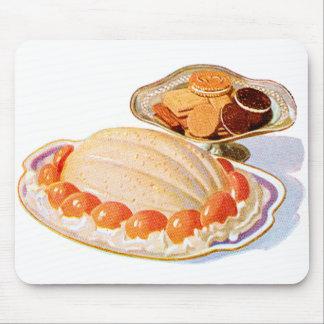 Retro Vintage Kitsch Food Peach Surprise Dessert Mousepad