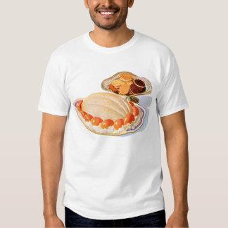 Retro Vintage Kitsch Food Peach Surprise Dessert Shirt