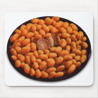 Retro Vintage Kitsch Food Pork and Beans Mouse Pad