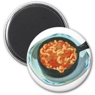 Retro Vintage Kitsch Food Spaghetti Hot Dish 2 Inch Round Magnet