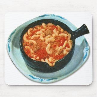 Retro Vintage Kitsch Food Spaghetti Hot Dish Mouse Pad