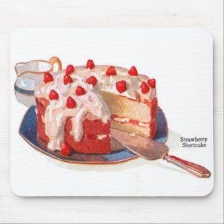 Retro Vintage Kitsch Food Strawberry Shortcake Mousepad