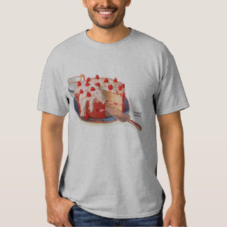 Retro Vintage Kitsch Food Strawberry Shortcake T Shirt