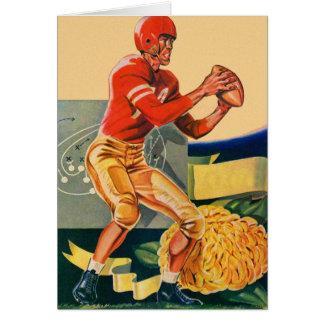 "Retro Vintage Kitsch Football 'Football Jones"" Card"