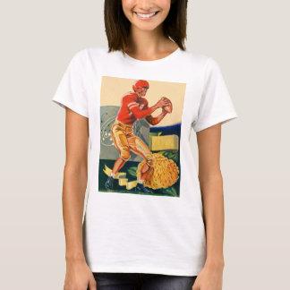 "Retro Vintage Kitsch Football 'Football Jones"" T-Shirt"