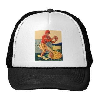 """Retro Vintage Kitsch Football 'Football Jones"""" Trucker Hat"""