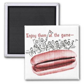 Retro Vintage Kitsch Frankfurter Wiener Hot Dog Ad Magnet