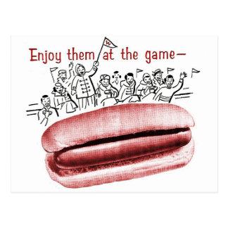 Retro Vintage Kitsch Frankfurter Wiener Hot Dog Ad Postcard