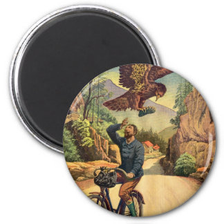Retro Vintage Kitsch French Bicycle Eagle Nabs Cap Magnet
