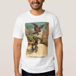 Retro Vintage Kitsch French Bicycle Eagle Nabs Cap Tshirt