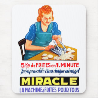 Retro Vintage Kitsch French Fry Frites Dutch Ad Mouse Pad