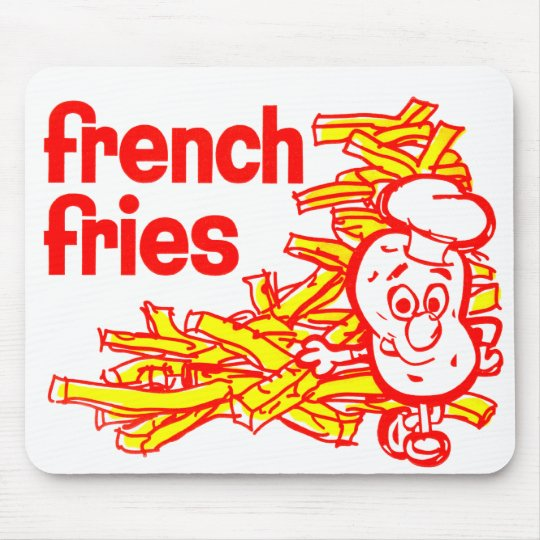 Retro Vintage Kitsch French Fry Package Art Mouse Pad