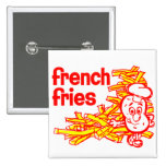 Retro Vintage Kitsch French Fry Package Art Pin