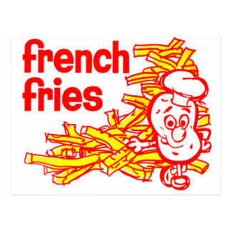 Retro Vintage Kitsch French Fry Package Art Postcard
