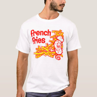 Retro Vintage Kitsch French Fry Package Art T-Shirt