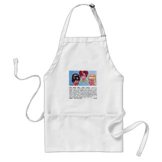 Retro Vintage Kitsch Fun Wigs For Little Girls Ad Apron