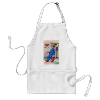 Retro Vintage Kitsch Gag Postcard Join The Army Adult Apron