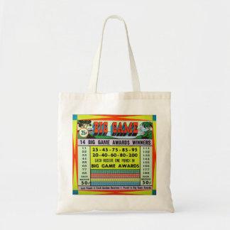 Retro Vintage Kitsch Gambling Punchboard Big Game Tote Bag