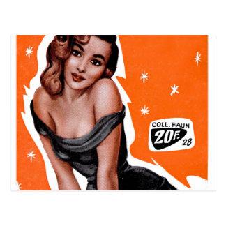 Retro Vintage Kitsch German Pin Up Postcard