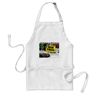Retro Vintage Kitsch Giant Moon Monster Comic Ad Adult Apron