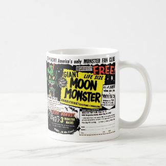 Retro Vintage Kitsch Giant Moon Monster Comic Ad Coffee Mug