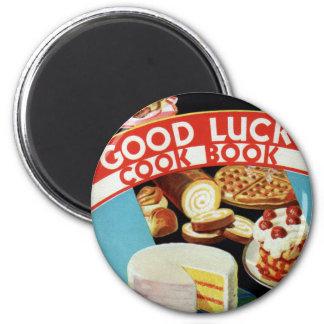 Retro Vintage Kitsch Good Luck Cook Book Margarine Magnet