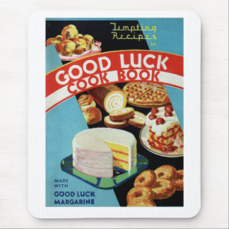 Retro Vintage Kitsch Good Luck Cook Book Margarine Mouse Pad