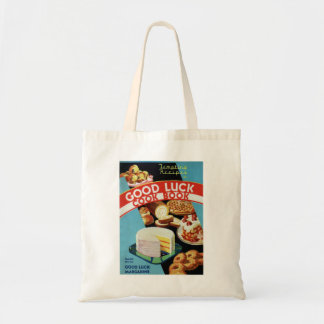 Retro Vintage Kitsch Good Luck Cook Book Margarine Tote Bag