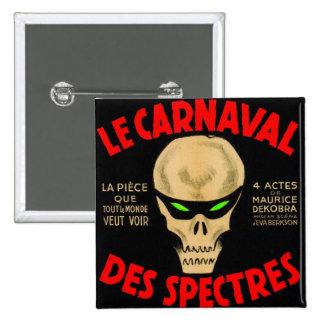 Retro Vintage Kitsch Grand Guignol La Caranval Pinback Button