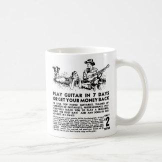 Retro Vintage Kitsch Guitar Play Guitar in 7 Days Coffee Mug