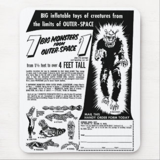 Retro Vintage Kitsch Halloween 7 Monsters $1 Ad Mouse Pad