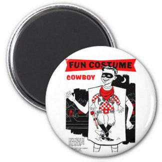 Retro Vintage Kitsch Halloween Cowboy Costume Magnet